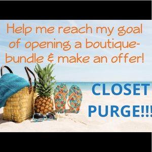 Closet Purge!  Bundle & Make An Offer!!